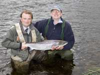 Highland Salmon fishing on river spey